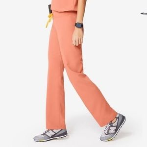 FIGS Livingston Scrub Pants in Coral
